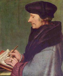 Erasmus von Rotterdam gemalt von Hans Holbein